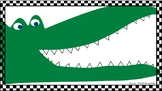 """Say Ahh!"" Alligator File Folder Activity: early sounds, labeling"