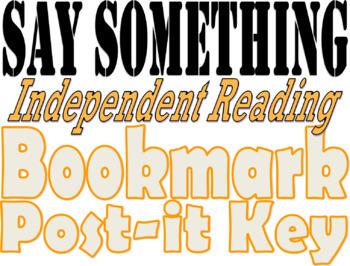 """Say Something"" Bookmark"
