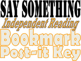 """Say Something"" Bookmark"