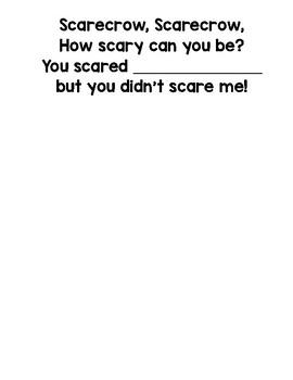"""""""Scarecrow, Scarecrow"""" Fall Class Book"""