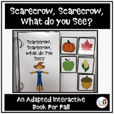 """""""Scarecrow, Scarecrow, What Do You See?"""" An Adapted Speech Therapy Book for Fall"""