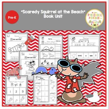 """""""Scaredy Squirrel at the Beach"""" Book Unit """"No Prep"""""""
