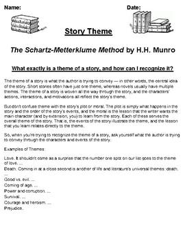 """Schartz-Metterklume Method"" by H.H. MunroTheme Worksheet"