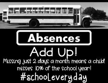 #School Every Day Attendance Poster