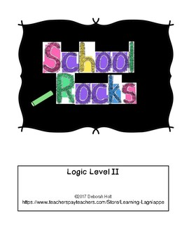 """School Rocks"" Logic Level 2 Grid Puzzle"