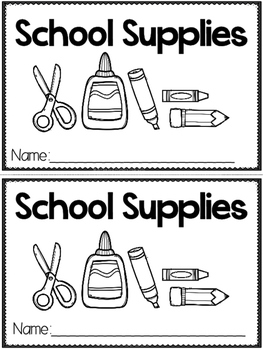 """School Supplies"" (A Back to School Emergent Reader Dollar Deal)"