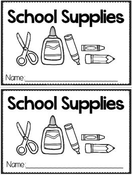 """School Supplies"" (A Back to School Emergent Reader Dollar Deal)"