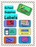 """""""School Supplies"""" Labels"""