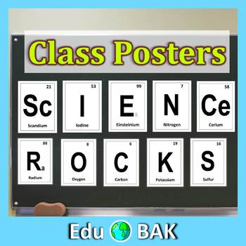 """""""Science Rocks"""" Periodic Elements Posters"""
