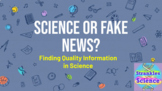 """Science or Fake News?"" Google Slides! Data Literacy Dista"