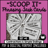 """Scoop It"" Fluency Phrasing Task Cards -- Set 5"