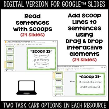 """Scoop It"" Fluency Phrasing Task Cards -- Set 6"