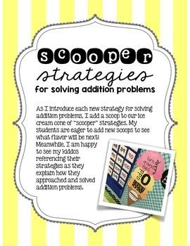 """Scooper"" Addition Strategies Poster"