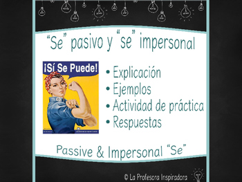 """Se"" pasivo y ""se"" impersonal / Powerpoint on passive & impersonal ""se"""