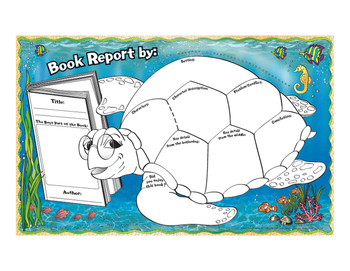 """Sea"" What I've Read Book Report Activity Mats"