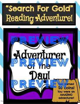 """""""Search For Gold"""" Motivating Independent Reading System"""