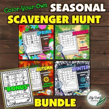 **Seasonal Scavenger Hunt Bundle-with FREE BONUS-by LilyVale Learning