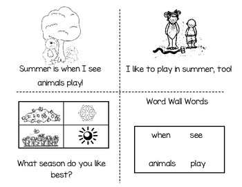 Seasons Sight Word Reader