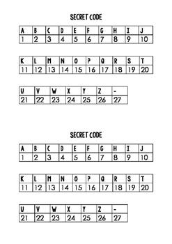 'Secret Code' Spelling Word Work