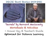 "IGCSE Short Stories: ""Secrets"" by Bernard MacLaverty (Story, Worksheets + GUIDE)"
