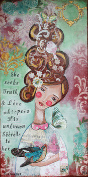 'Seeker of Truth' Poster - inspiration art for home or classroom