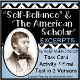 """""""Self-Reliance"""" and """"The American Scholar"""" by Ralph Waldo Emerson"""