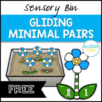 FREE Gliding Minimal Pairs Speech Therapy Sensory Bin