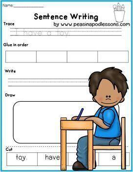 Cut and Paste Sight Words Sentences 1, 2, & 3
