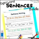 Sentence Writing Practice 1st Grade Sight Words Summer Cut and Paste Worksheets