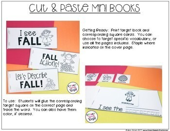 #Sept2017slpmusthave Fall Interactive Language Activities