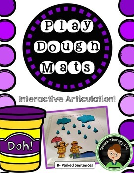 Play Dough Articulation Mats for Speech Therapy - R Sound
