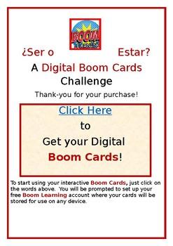 ¿Ser o Estar? A Digital Boom Cards Challenge