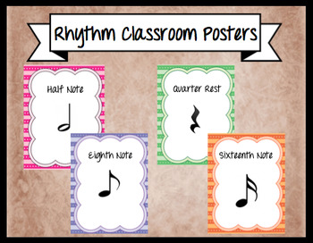 *Set of 8* Rhythm Symbol Classroom Posters
