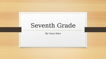 """Seventh Grade"" By Gary Soto Reading Guide by KT Middle ..."