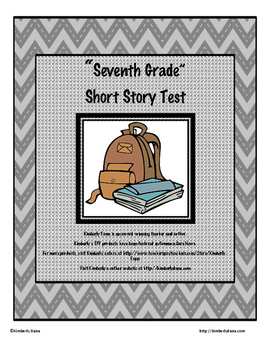 """Seventh Grade"" By Gary Soto Test"