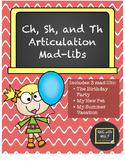 #apr2019slpmusthave - Articulation Mad-libs Featuring Ch, Sh, and Th