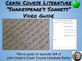 """Shakespeare's Sonnets""-Crash Course Literature Video Guid"