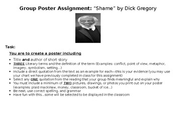 """""""Shame"""" by Dick Gregory Group Poster"""