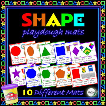 """""""Shape Playdough Mats"""" from LilyVale Learning"""