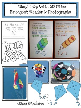 """""""Shapin' Up With 3D Kites"""" Emergent Reader & Activities Packet"""