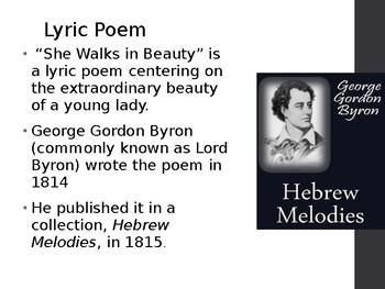 """""""She Walks in Beauty"""" by Lord Byron"""