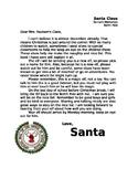"""""""Shelf Sitting Elf"""" letter from Santa"""