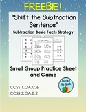 """Shift the Subtraction Sentence"" Basic Fact Strategy Freebie!"