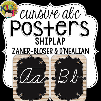 {Shiplap} Cursive Alphabet Posters