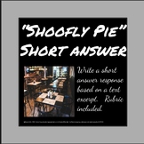 """""""Shoofly Pie"""" - Short answer question and student example"""