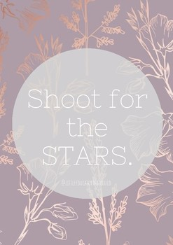 Shoot For The Stars Quote Poster By Littleeducatorthatcould Tpt