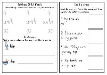 'Short i' worksheets.