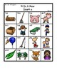 Colored 'Short o' cvc / simple word Bingo-style Four In a