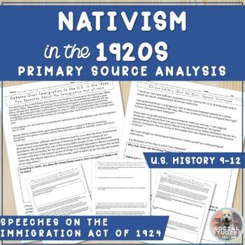 """Shut the Door"" Anti-Immigration/Nativist Reading & Questions (1900s)"