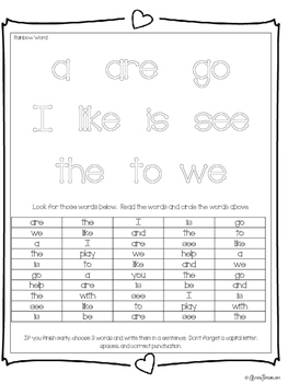 **Sight Word Activities** 5 Lessons, 220 Sight Words